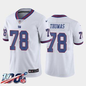 New York Giants Andrew Thomas White Rush Jersey